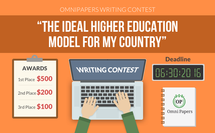 Banner of the essay contest at OmniPapers